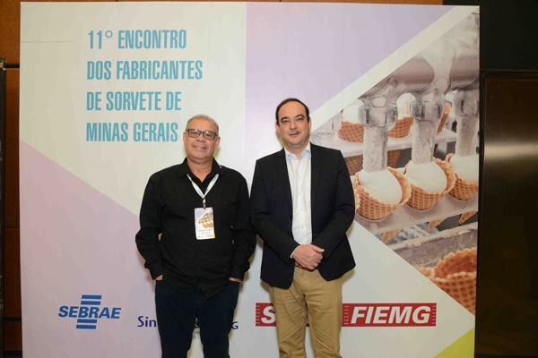Flávio - Presidente da FIEMG com o Presidente do SindSorvete - Vagnaldo