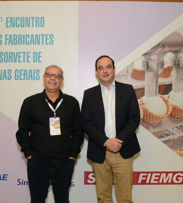Vagnaldo - Presidente do SindSorvete com o Presidente da FIEMG - Flávio Roscoe